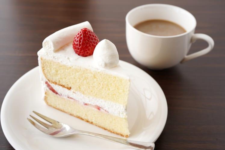 ご褒美のイメージ画像。イチゴのショートケーキ