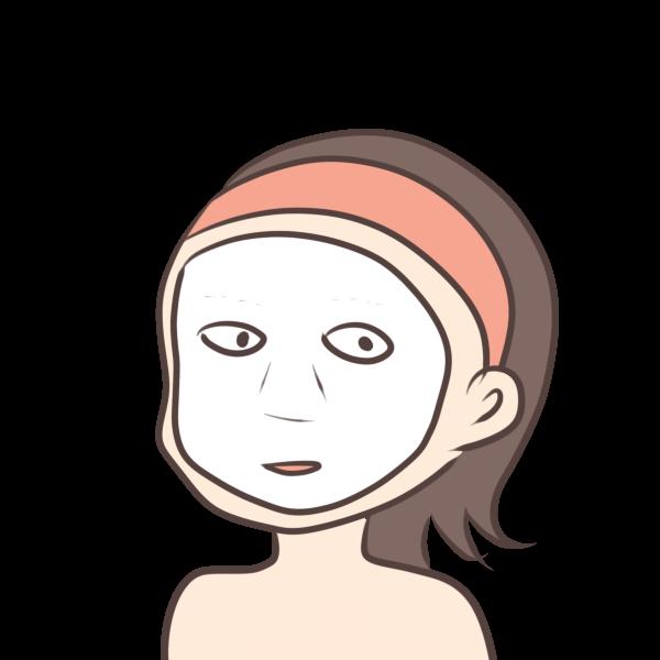 パックをする女性。夜パックをすることで、翌日の肌のコンディションが格段に良くなる。